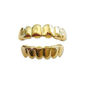 Top & Bottom Row Hiphop Grillz set - Gold Plated