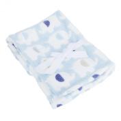 Baby Elephant Luxury Pram Blanket -Boy/Girl Options (75cm x 100cm)