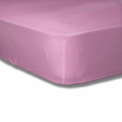 Baby Cot Bed Fitted sheet 70x140 100% Cotton Percale-Pink
