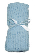 Soft Touch Cotton Pram Blanket Pink, Blue or Ivory