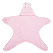 Tuppence and Crumble Star Baby Wrap Baby Pink Medium