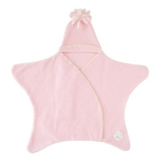 Tuppence and Crumble Star Baby Wrap Baby Pink Small