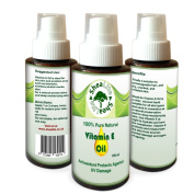 Vitamin E Oil 100% Natural Pure for Face, Skin, Hair, Scars and Stretch Marks - Love It Or Your Money Back