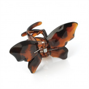 Amber Jewellery Butterfly Hair Claw Clip Clamp Accessory - 9cm Brown 26010