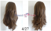 Double volume reversible straight flick Half Fall Half Wig hairpiece Various colours