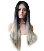 Uniwigs® Heat Friendly Synthetic Fibre Lace Front Wig, Ombre Colour Straight Wig
