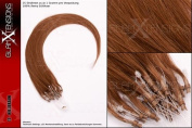 50 x 1g x 60cm Smooth Indian Remy Real Hair Micro Loop Extensions / with Accessories