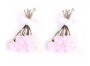 10 x Small 6mm Pink Crystal Hair Pins Made With SWAROVSKI ELEMENTS