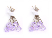 10 x Small 6mm Purple Crystal Hair Pins Made With SWAROVSKI ELEMENTS