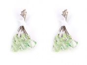 10 x Small 6mm Green Crystal Hair Pins Made With SWAROVSKI ELEMENTS