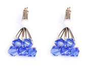 10 x Small 6mm Blue Crystal Hair Pins Made With SWAROVSKI ELEMENTS