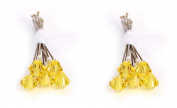 10 x Small 6mm Yellow Crystal Hair Pins Made With SWAROVSKI ELEMENTS