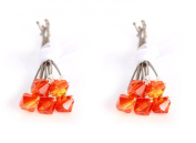 10 x Small 6mm Orange Crystal Hair Pins Made With SWAROVSKI ELEMENTS