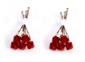 10 x Small 6mm Red Crystal Hair Pins Made With SWAROVSKI ELEMENTS