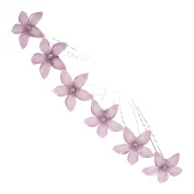 Purple Daisy Hair Pins x 6