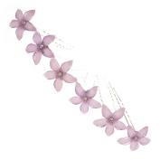 Purple Daisy Hair Pins x 6
