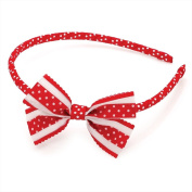 Red & White Polka Dot Bow Headband