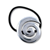 Pewter Celtic Swirl Motif with Scrunchie from High Quality. Size (Cm)
