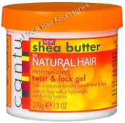 Cantu Shea Butter For Natural Hair Moisturising Twist & Lock Gel *Control Frizz For A Silky Smooth Hold 370g