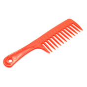 Manchester Case Red Wide Tooth Plastic Hair Comb with Handgrip 18cm