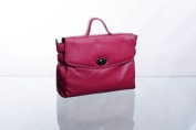Bolla Bags Leather Flapover Grab Bag with Turnlock and Detachable Shoulder Strap
