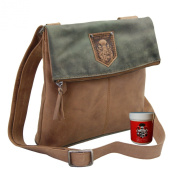 BARON of MALTZAHN Ladies Shopper Shoulder Bag MERAN from olive-brown leather incl. Leather care