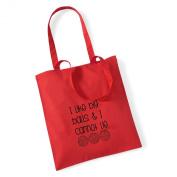 I Like Big Balls & I Cannot Lie Crochet/Knitting Cotton Tote Bag Present Crafter Stash Yarn Wool