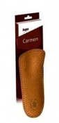 Orthotic leather insoles toe-free with longitudinal metatarsal arch support, Kaps Carmen, all sizes