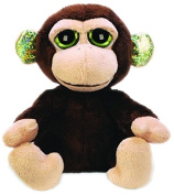 Suki Gifts Lil Peepers Fun Mocha Monkey Plush Toy with Green Sparkle Accents