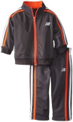 New Balance Baby-Boys Infant Brushed Tricot Jacket and Pant Set, Charcoal, 18 Months Colour