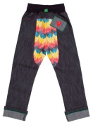 Oishi-m Unisex Baby Meant To Be Skinny Jean - Big Yellow/Blue/Orange 5-6 years Size