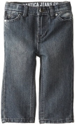 Nautica Baby-Boys Infant Slim Straight Denim Jean, Chrome, 18 Months Colour