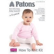 Patons Fairytale DK Baby Sweater Knitting Wool / Yarn Kit PINK