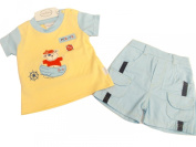 BNWT Baby boys pirate bear top and shorts set. 100% cotton 0-3 months