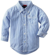 Tommy Hilfiger Baby-Boys Infant Stripe Shirt, Strong Blue, 24 Months Colour
