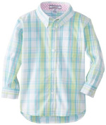 Kitestrings Baby-boys Infant Family Button Down Shirt, White Multi Plaid, 18 Months Colour