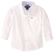 Tommy Hilfiger Baby-Boys Infant Long Sleeve Classic Shirt, White, 0-3 Months Colour