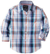 Nautica Baby-Boys Infant Plaid Woven Long Sleeve Shirt, White, 18 Months Colour
