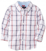 Tommy Hilfiger Baby-Boys Infant Long Sleeve Samuel Shirt, White, 12 Months Colour