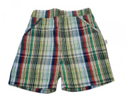 Baby Boys Green Cheque Shorts