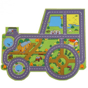 Large Tractor Farm Playmat (100x86cm) - super base for tractor, truck, dumper, farm animals & boats!