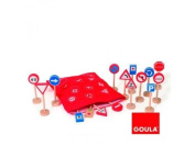 Goula 50211 Wooden Toy Set 16 Road Signs