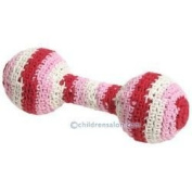 Anne-Claire Petit organic cotton crochet Baby rattle bell inside - Pink