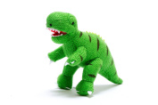 Best Years Knitted T Rex Rattle - Green