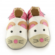 Snuggle Feet Cute Mouse Soft Leather Baby Shoes | 18-24 months