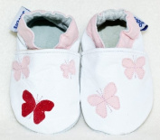 Soft leather baby shoes butterfly