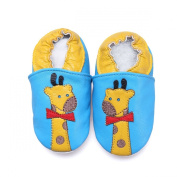 Soft Leather Baby Boys Girls Infant Pre Walker Shoes Giraffes 0-6 Months
