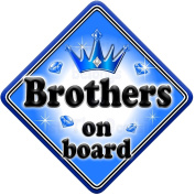 GEM JEWEL BROTHERS Baby on Board Car Window Sign