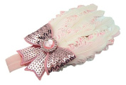 Viskey Lovely Cotton Girls Baby Headbands,Feather,beige and pink