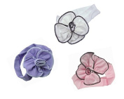 Pack of 3 Viskey Lovely Cotton Girls Baby Headbands,Flower
